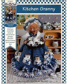 Kitchen Granny Air Freshener Doll Crochet by grammysyarngarden, $5.00