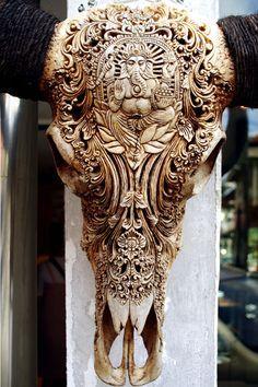antler skull carvings - Google Search