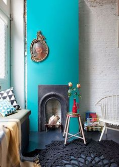 An Unexpected Spot to Add Color: The Fireplace | Apartment Therapy