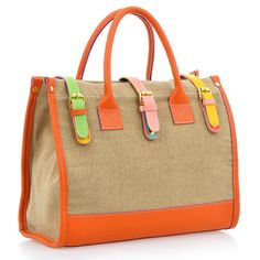 6c223b1aa0ce (FL004391) 2012 New Early Spring Models Korean Handbag Retro Contrast Color  Canvas Bag Ladies