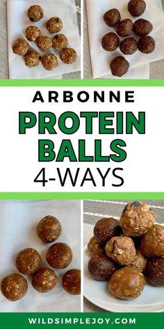 Vanilla Protein Recipes, Chocolate Protein Recipes, Chocolate Protein Balls, Protein Powder Recipes, Chocolate Chocolate, Arbonne Protein Bars, Healthy Protein, Protein Snacks, Healthy Snacks