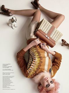 Lara Stone by Mario Testino for V Magazine #73