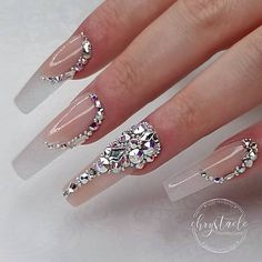 """""""your success is our reward"""" – Ugly Duckling Nails Inc. """"your success is our reward"""" – Ugly Duckling Nails Inc. Diamond Nail Designs, Diamond Nails, Nail Art Designs, Nails Design, Design Art, Acrylic Nails Coffin Glitter, Stiletto Nails, Glitter Nails, Pink Bling Nails"""
