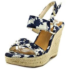 INC International Concepts Alffie Wedge Sandals Blue Size 75 -- To view further for this item, visit the image link.