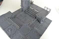"""""""Zone Mortalis Tip can never have enough stairs, here are some examples of using multiple sets of stairs. My favourite is using four sets which once combined create another floor level, and a great area to fight over. Warhammer Terrain, 40k Terrain, Wargaming Terrain, Warhammer 40k, Sci Fi Environment, Environment Design, Necromunda Gangs, Stair Kits, Warhammer Imperial Guard"""