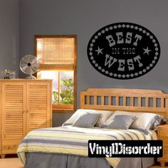 Cowboy Best in the west Wall Decal - Vinyl Decal - Wall Quote - Mv002