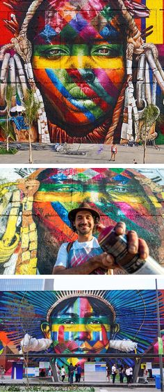 World's largest mural by Eduardo Kobra // colorful street art