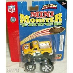 Green Bay Packers 2005 Mini-Monster Truck NFL Diecast Fleer Football Team Collectible with Pullback Motion by Fleer $12.79