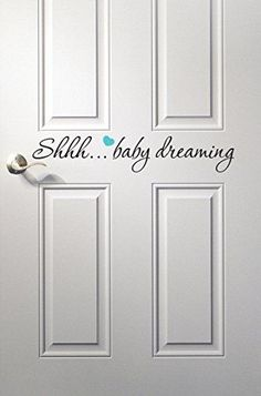 Baby Dreaming Wall Decal Quote - Nursery Room Decor - Nursery Wall Decals - Baby Room Decoration Vinyl * See this great product. (This is an affiliate link and I receive a commission for the sales) Interior Paint Colors, Paint Colors For Home, Room Interior, Interior Design Living Room, Nursery Room Decor, Nursery Wall Decals, Vinyl Wall Decals, Nursery Ideas, Kids Bedroom
