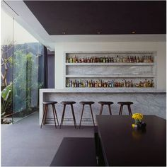 Beautiful Home Bar Designs You'll Go Crazy For. Below are the Home Bar Designs You'll Go Crazy For. This post about Home Bar Designs You'll Go Crazy For was posted under the category by our team at February 2019 at pm. Hope you enjoy it and . Design Hotel, House Design, Modern Home Bar Designs, Modern Bars For Home, High Design, Casa Loft, Small Bars, Contemporary Bar, Bar Furniture