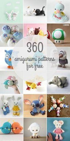 360 Free Amigurumi Patterns #crochet #amigurumi