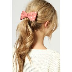 Marina Stud Bow Hair Clip ($12) ❤ liked on Polyvore featuring hair, hairstyles, hair styles, pictures, cabelos and backgrounds