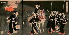 japanese bushi women with naginata and eboshi