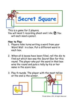 FREE 3 partner games for word wall practice. Also good for content area vocabulary!