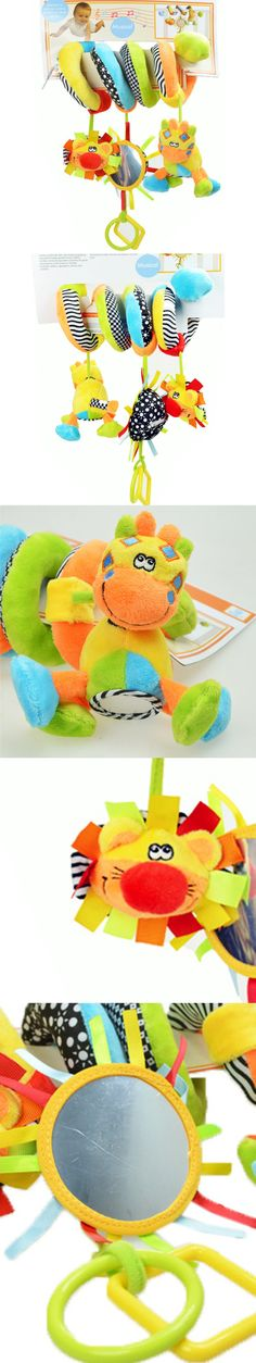 Baby Kids Toys For Newborn Babies Cute Bed Hanging Toys Baby Rattles Giraffe Deer Plush Stroller Mobiles Musical Toy