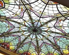 Stained glass dome and wall deco by France Vitrail International in ...