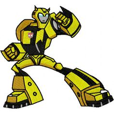 Shoply.com -Bumblebee Transformer  Machine Embroidery Design in 4 sizes - MUST SEE. Only $3.99