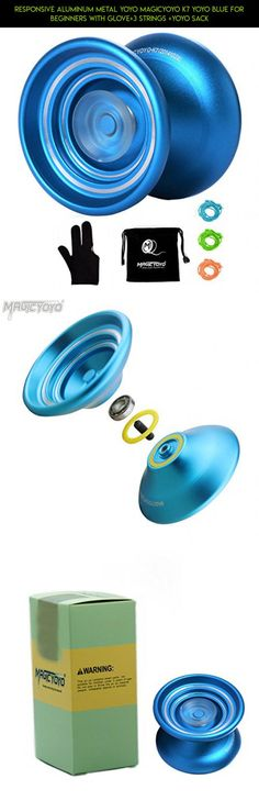 Responsive Aluminum Metal Yoyo MAGICYOYO K7 YoYo Blue for Beginners with Glove+3 Strings +YoYo Sack #gadgets #products #tech #technology #drone #racing #responsive #yo-yo #shopping #fpv #parts #camera #plans #kit