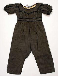 Skeleton suit, American c.1830-39 Silk