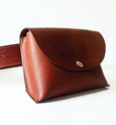 Leather Hip Bag by fortunamonsoonshop on Etsy, $60.00