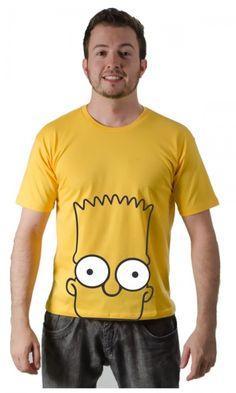 Camiseta Bart Simpsons com pagamento facilitado em até 18x no cartão! Enviamos para qualquer cidade do Brasil. #camisetaamarela