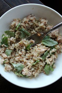 Miso salmon brown rice bowl