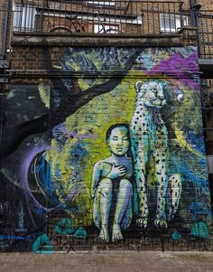 Mural by Alice Pasquini, Haley Mews, Camden. #London