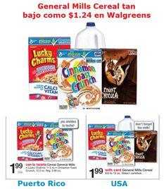 General Mills Cereal tan bajo como $1.24 en Walgreens PR y USA