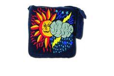 Corduroy Sun and Cloud Bag (Medium)