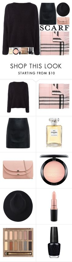 """""""Winter School Days"""" by anotherfashionfatale ❤ liked on Polyvore featuring Balmain, Burberry, McQ by Alexander McQueen, Chanel, MAC Cosmetics, Urban Decay, OPI and Gucci"""
