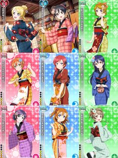 Non-Idolised Seven Lucky God Kimono Card Set