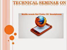 Presentation At: Mozilla Firefox OS smartphones
