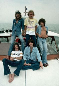 I'd like to be hanging out with The Eagles on this boat....wish we were this young again!