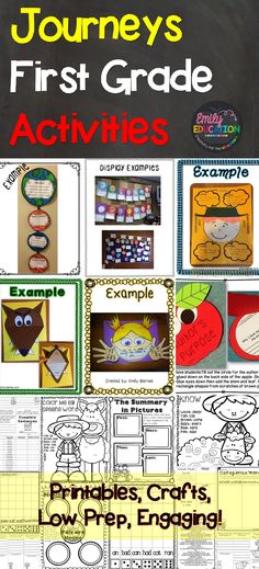 LESSON 17 Journey First Grade Activities! This teacher has done it all: Low Prep! Come see what has made students and teachers fall in love with teaching Journeys! 1st Grade Writing, Teaching First Grade, First Grade Reading, First Grade Classroom, 1st Grade Math, Student Teaching, Grade 1, Teaching Ideas, Teaching Grammar