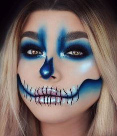 Makeuphall: The Internet`s best makeup, fashion and beauty pics are here. Maquillage Halloween Clown, Halloween Makeup Clown, Amazing Halloween Makeup, Clown Makeup, Scary Makeup, Diy Halloween, Skull Face Makeup, Maquillage Harry Potter, Fantasy Makeup