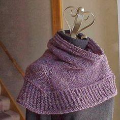 Ravelry: Soft Shoulder Cowl / Shawl pattern by Kris Basta - Kriskrafter, LLC Poncho Knitting Patterns, Shawl Patterns, Free Knitting, Finger Knitting, Knitting Scarves, Knitting Tutorials, Knitting Machine, Crochet Patterns, Knit Cowl