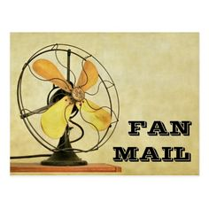 Retro Fan Mail Post Card - A funny unique post card for brightening someone's day. Sold at DancingPelican on Zazzle.