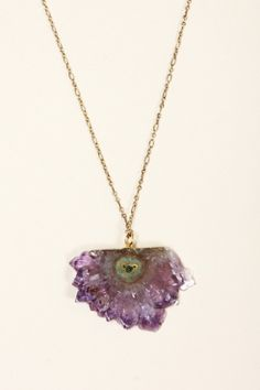 $48 $36 (25% Off) SLICED AMETHYST CRYSTAL NECKLACE