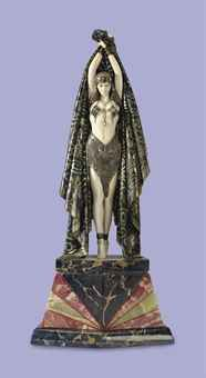 DEMETRE H. CHIPARUS (1886-1947) 'ANTINEA' A COLD-PAINTED AND PATINATED BRONZE AND IVORY FIGURE, CIRCA 1928  The Collection of Elizabeth Taylor: Fine and Decorative Art & Film Memorabilia, Including Costumes (V)