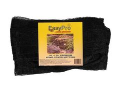 EasyPro NP2030 Premium Pond Cover Netting 3/4-Inch, 20-Foot x 30-Foot with 12 Stakes by Easy Pro Pond Products, us lawn and garden, EBRFK. $54.04. Helps to keep leaves and debris out of your pond. This strong black pond netting will last for years. This kit comes with 3/4-inch 20-feet x 30-feet netting and 10-stakes to secure it in place. This strong black pond netting will last for years, helps to keep leaves and debris out of your pond. This comes complete w...
