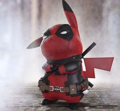 "Pokemon, Deadpool lovers or not you have to give it to Pikapool! Ralph Andres rendered image of When Pikachu Meets Deadpool ""Pikapool"" went vital even more when Ryan Reynolds approved Pikapool and the hunt was Pikachu Pikachu, Pokemon Go, Deadpool Pikachu, Deadpool Art, Deadpool Funny, Pokemon Funny, Pokemon Fusion, Dead Deadpool, Deadpool Quotes"