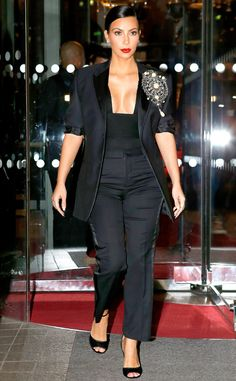 Kim Kardashian wears Givenchy for a Fashion Week party in Paris!