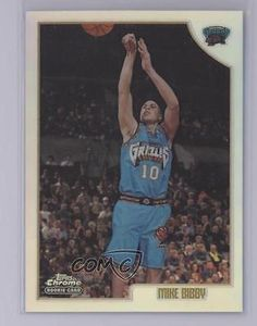 2be57a03664 1998 Topps Chrome Refractor  196 Mike Bibby Vancouver Grizzlies Basketball  Card Grizzlies Basketball