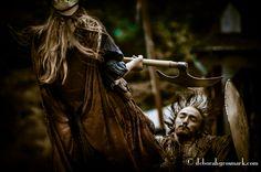 Drucilla De Marque & Will Scarlet In Combat Photo By: Deborah Grosmark