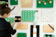DIY Holiday Present Photo Backdrop by Studio DIY