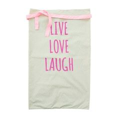 Waist Apron with LIVE LOVE LAUGH Print RICE