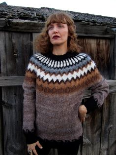 $60 Beautiful Brushed Alpaca Sweater XS-S,M-L,Handmade in Peru,My Peruvian Treasures,Crew Neck Unisex Alpaca Sweater,Natural Shades Baby Alpaca by MyPeruvianTreasures on Etsy