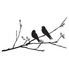 Birds On A Branch Wall Sticker