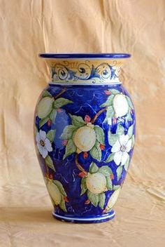 """Amalfi Limon...the pride of the Amalfi Coast! Now can be yours in beautiful ceramic! Limone Vase, 22""""  $249.00"""