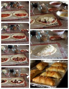 Meat Lovers Calzones A calzone is like a little pizza sandwich. These Meat Lovers Calzones are stuffed with pepperoni, sausage and Canadian bacon. An easy calzone recipe! My Recipes, Italian Recipes, Cooking Recipes, Favorite Recipes, Quiche, Think Food, I Love Food, Meat Lovers, Pizza Sandwich